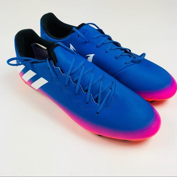 timeless design 761de 47b02 Adidas Messi 16.3 FG Mens Soccer Cleats Blue Pink